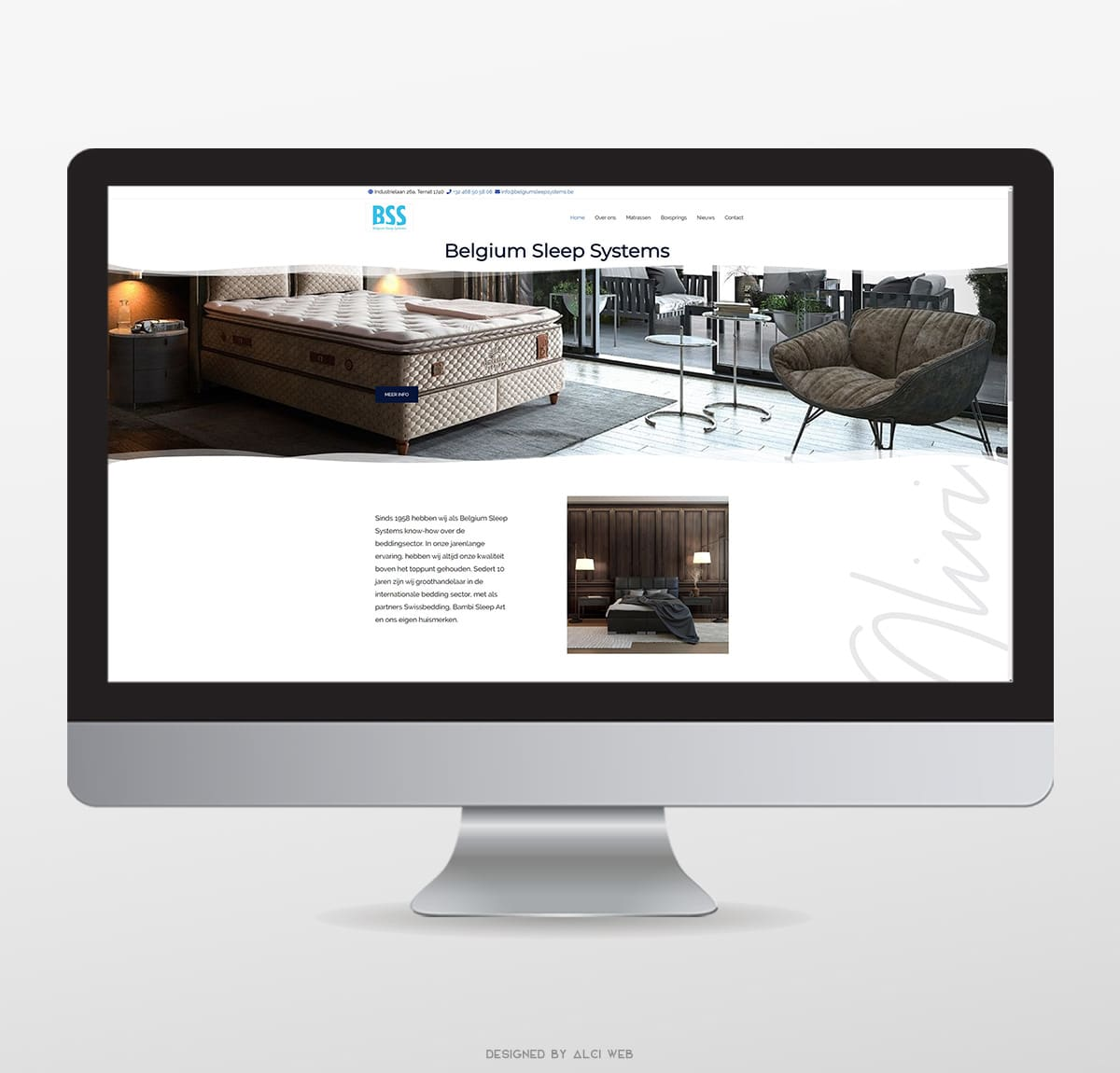 Belgium Sleep Systems webdesign